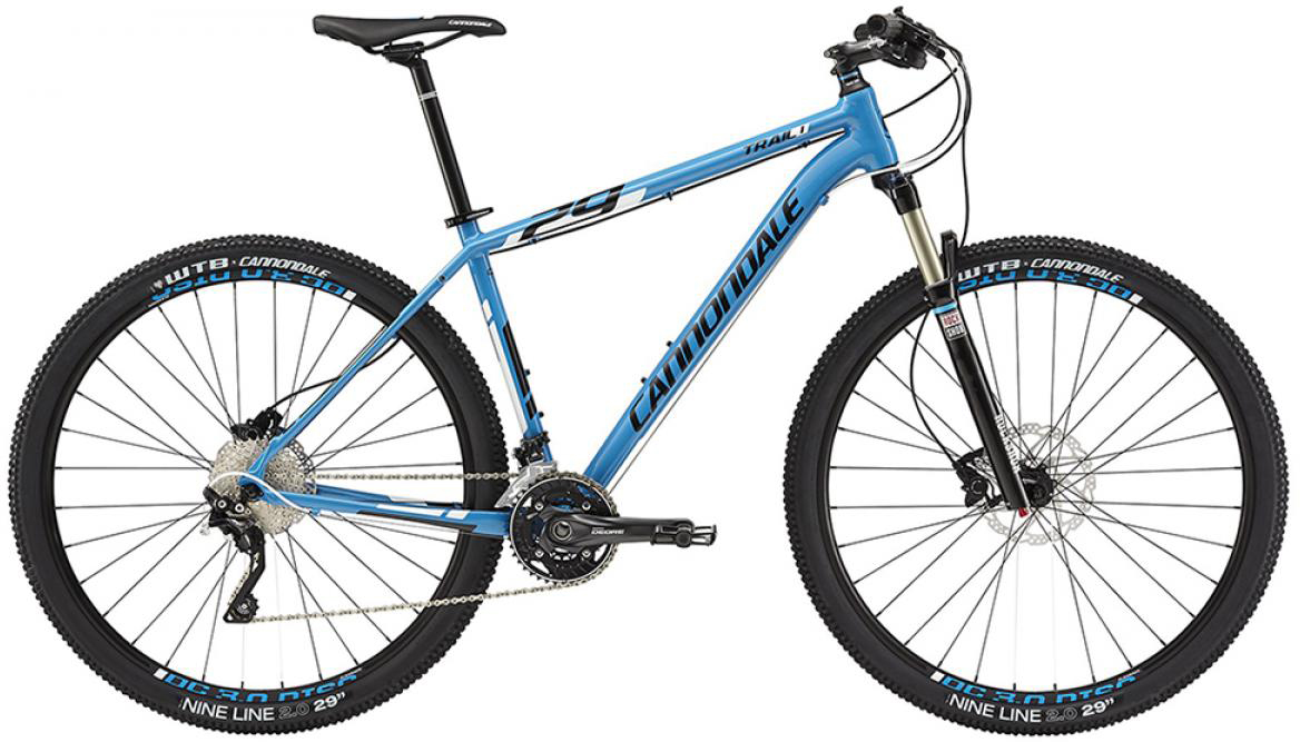 Велосипед горный Cannondale Trail 1 2015, цвет: синий, рама 24, колесо 29207896