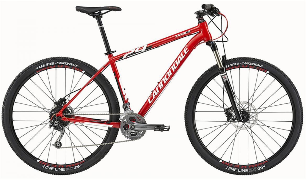 Велосипед горный Cannondale Trail 3 2015, цвет: красный, рама 16, колесо 27,5207904