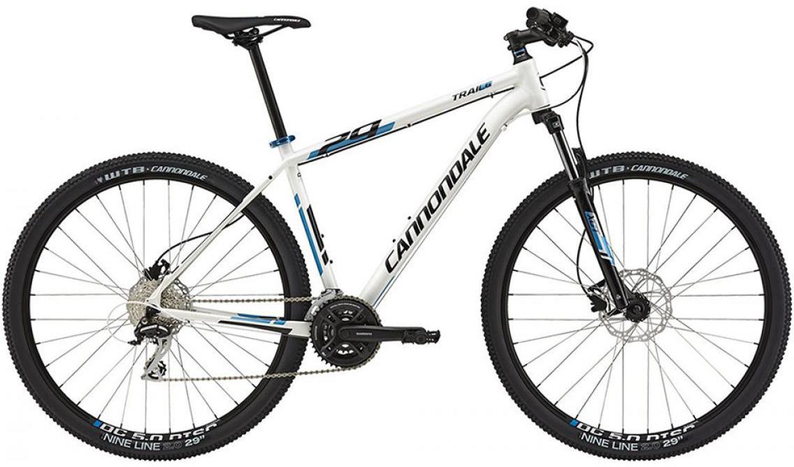 Велосипед горный Cannondale Trail 6 2015, цвет: белый, рама 24, колесо 29207938