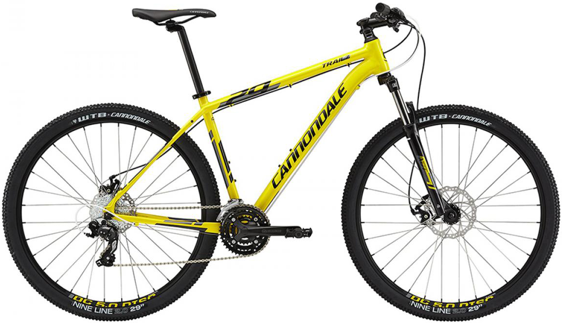 Велосипед горный Cannondale Trail 7 2015, цвет: желтый, рама 18, колесо 29207947