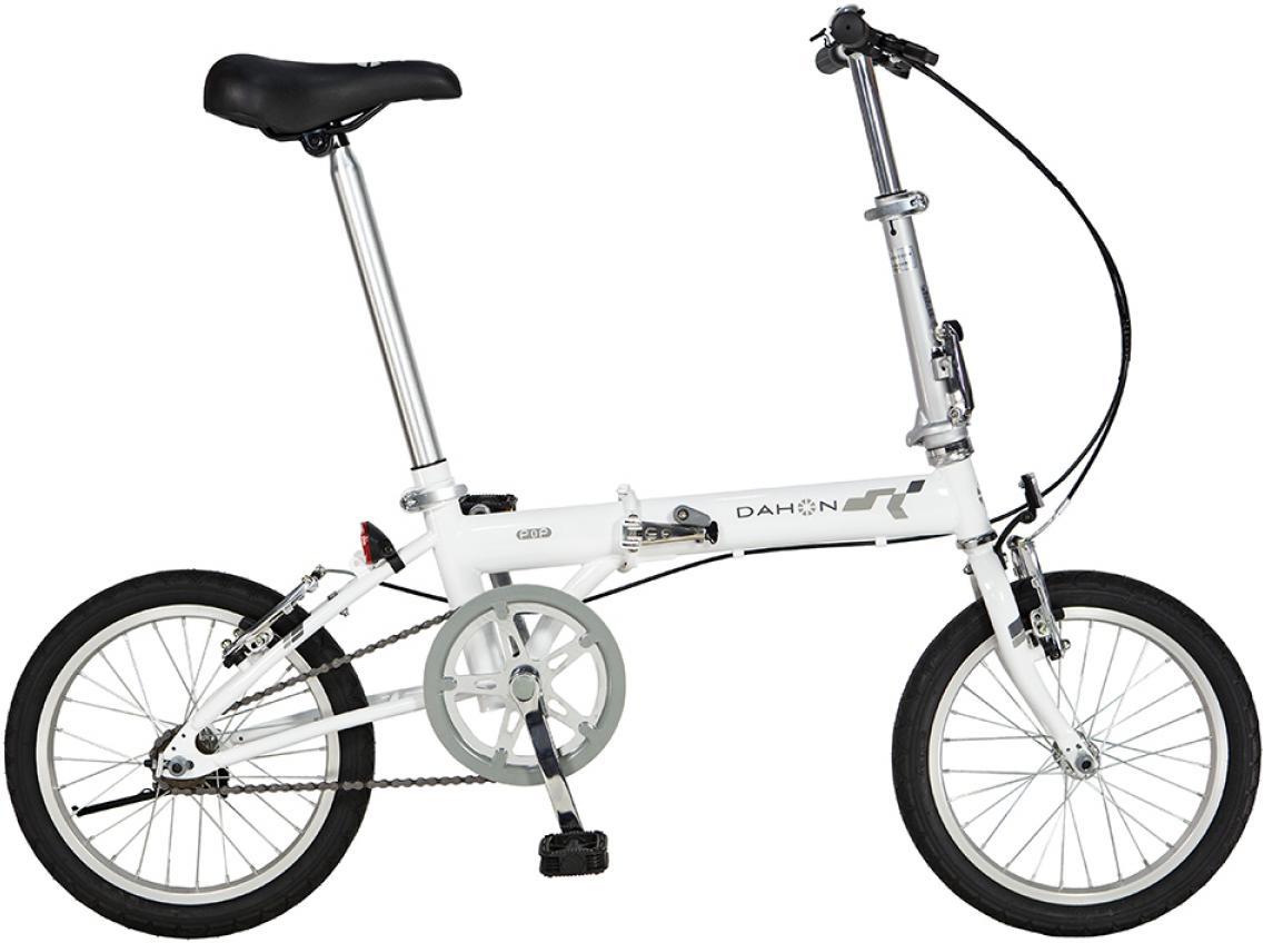Велосипед складной Dahon Pop Uno 2015, цвет: белый, колесо 16