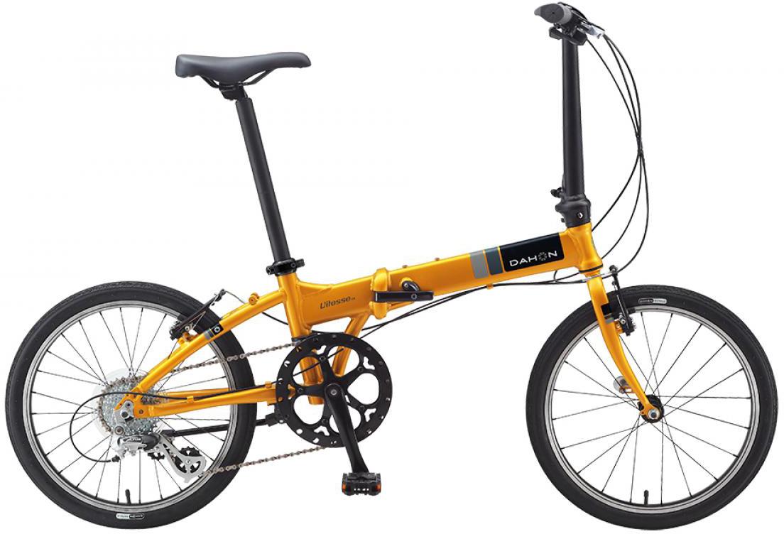 Велосипед складной Dahon Vitesse D8 2015, цвет: желтый, колесо 20