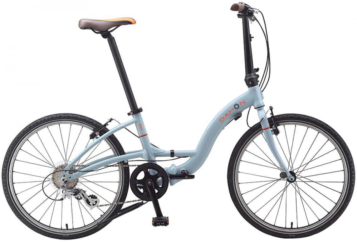 Велосипед складной Dahon Briza D8 2015, цвет: голубой, колесо 24