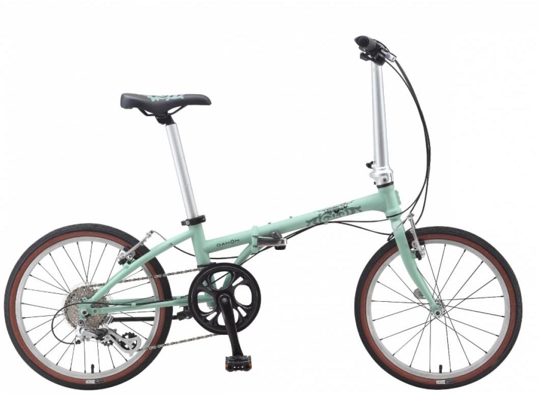 Велосипед складной Dahon Boardwalk D8 2015, цвет: зеленый, колесо 20