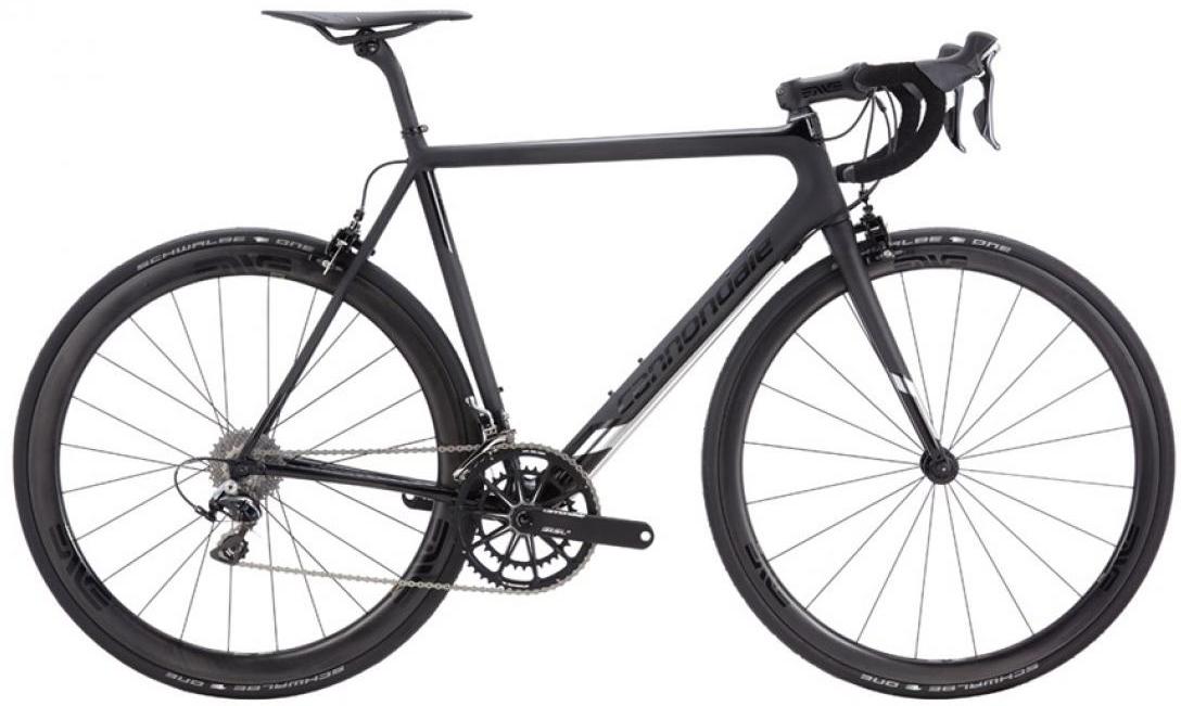 Велосипед шоссейный Cannondale SuperSix EVO Black Inc. 2016, цвет: черный, рама 23,5, колесо 28262419