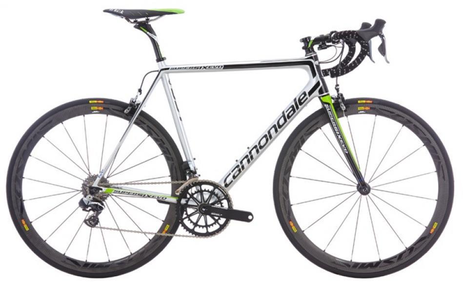 Велосипед шоссейный Cannondale SuperSix Evo Hi-Mod Team 2016, цвет: белый, рама 23,5 колесо 28262426