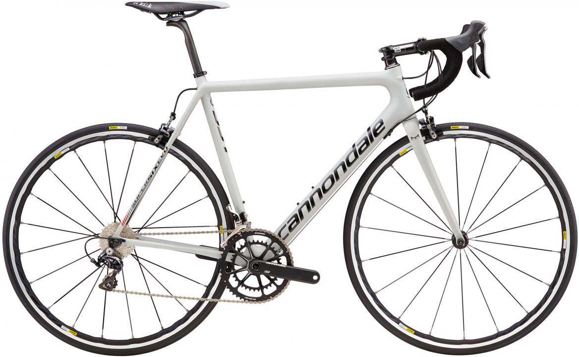 Велосипед шоссейный Cannondale SuperSix Evo Hi-Mod Dura Ace 2 2016, цвет: серый, рама 21,5, колесо 28262444