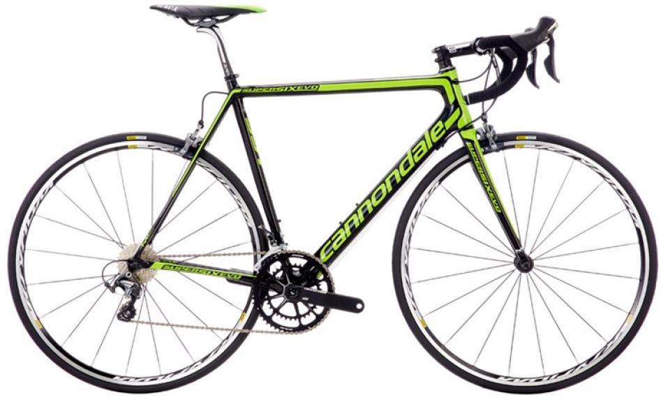 Велосипед шоссейный Cannondale SuperSix Evo Hi-Mod Ultegra 2016, цвет: зеленый, рама 23, колесо 28262453