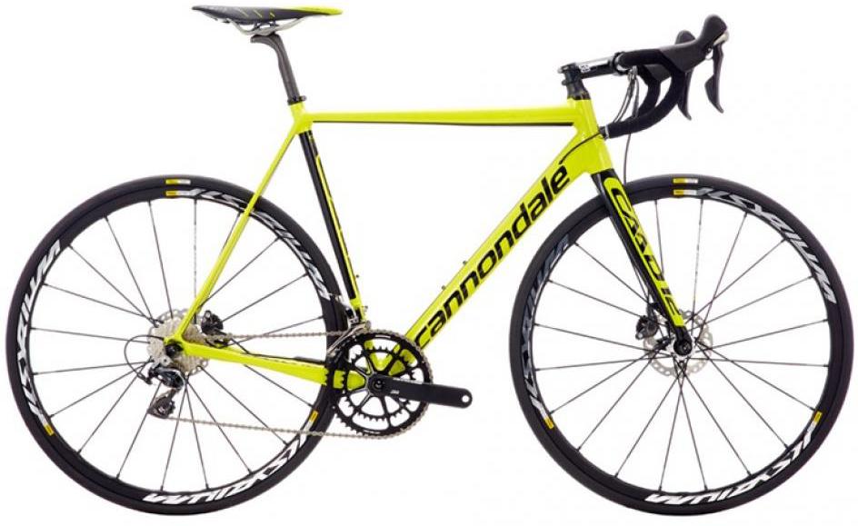 Велосипед шоссейный Cannondale CAAD12 Disc Dura Ace 2016, цвет: желтый, рама 21,5, колесо 28262531