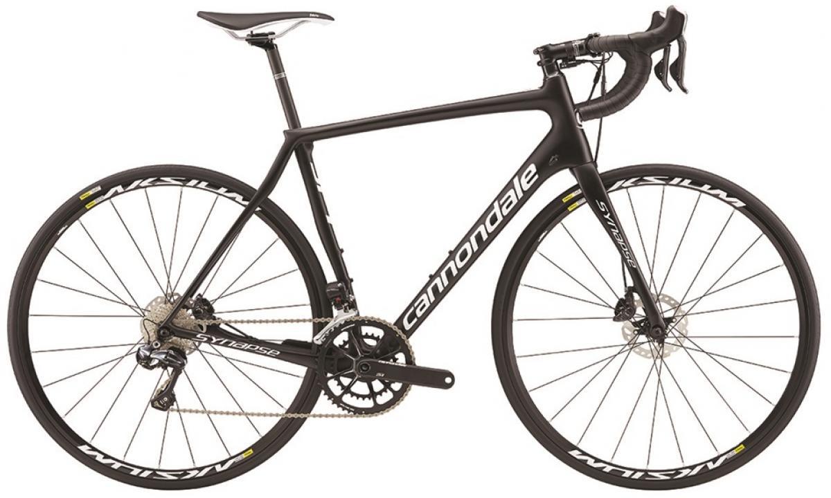Велосипед шоссейный Cannondale Synapse Carbon Disc Ultegra Di2 2016, цвет: черный, рама 22, колесо 28262665