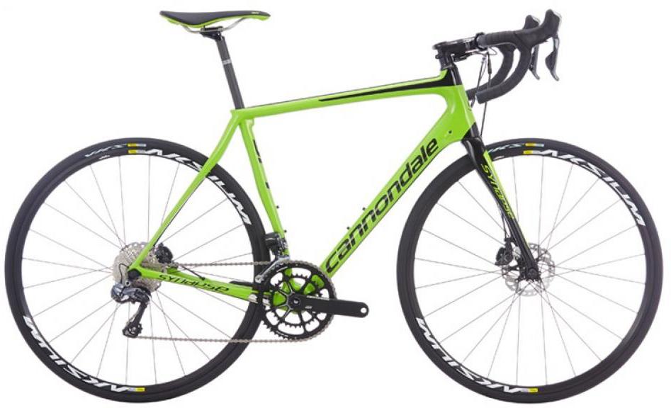 Велосипед шоссейный Cannondale Synapse Carbon Disc Ultegra Di2 2016, цвет: зеленый, рама 23, колесо 28262672