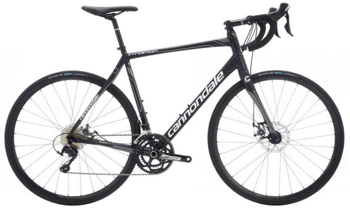 Велосипед шоссейный Cannondale Synapse Disc 105 2016, цвет: черный, рама 24, колесо 28262751