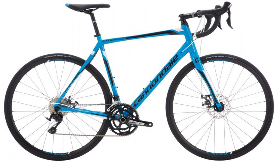 Велосипед шоссейный Cannondale Synapse Disc 105 2016, цвет: синий, рама 22, колесо 28262760