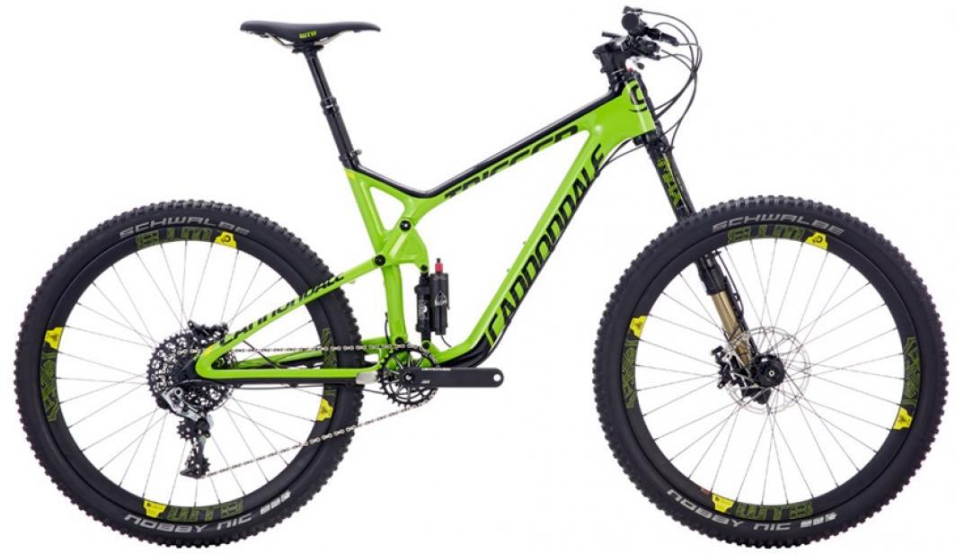 Велосипед горный Cannondale Trigger Carbon 1 2016, двухподвесный, цвет: зеленый, рама 22, колесо 27,5262905