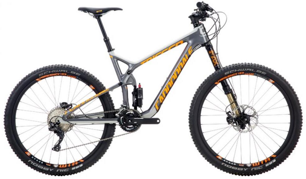 Велосипед горный Cannondale Trigger Carbon 2 2016, двухподвесный, цвет: серый, рама 22, колесо 27,5262909