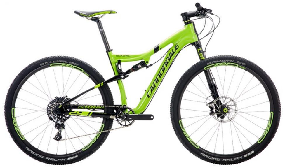 Велосипед горный Cannondale Scalpel Carbon Race 2016, двухподвесный, цвет: зеленый, рама 16, колесо 29 велосипед cannondale scalpel 29 carbon race 2016
