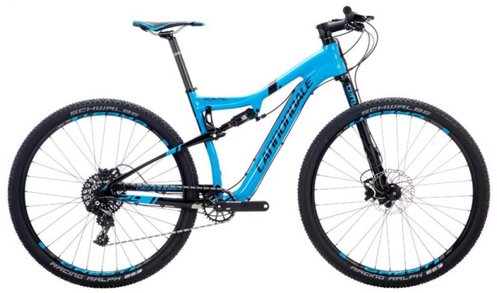 Велосипед горный Cannondale Scalpel Carbon 2 2016, двухподвесный, цвет: синий, рама 16, колесо 29 велосипед cannondale scalpel 29 carbon race 2016