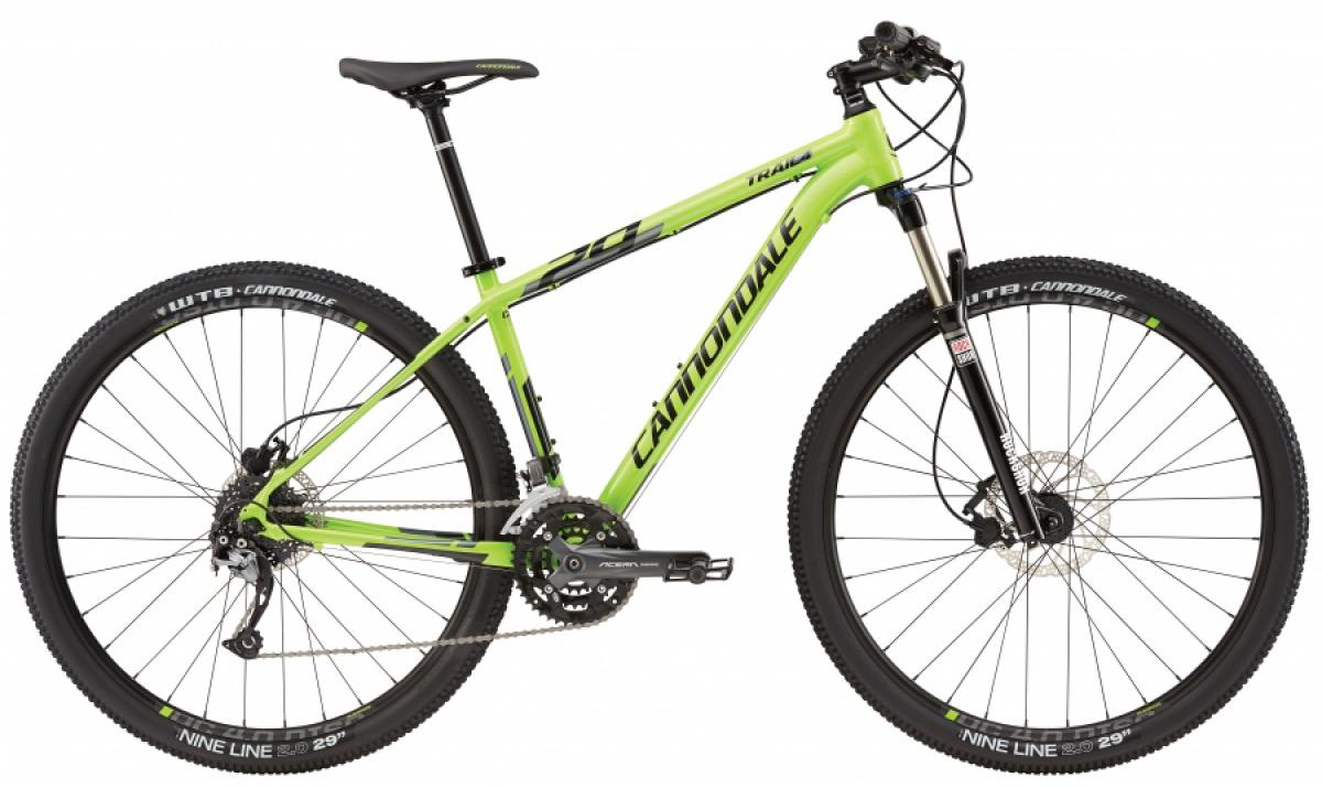 Велосипед горный Cannondale Trail 4 2016, цвет: зеленый, рама 24, колесо 29263156