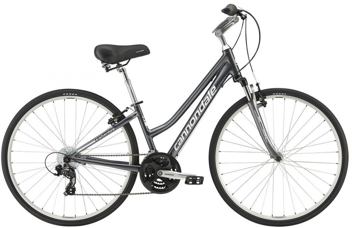 Велосипед городской Cannondale Adventure Womens 2 2016, цвет: серый, рама 16, колесо 28263690