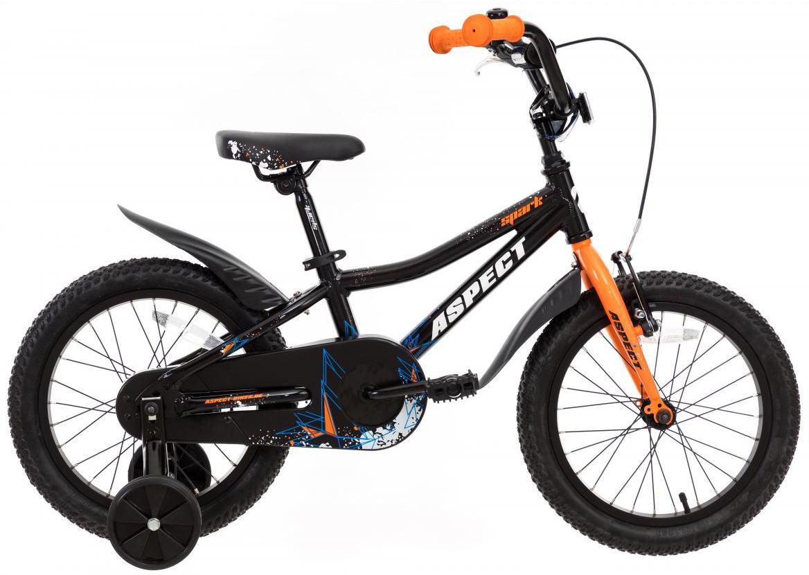 Велосипед детский Aspect Spark Boy 2017, цвет: черный, колесо 16268885