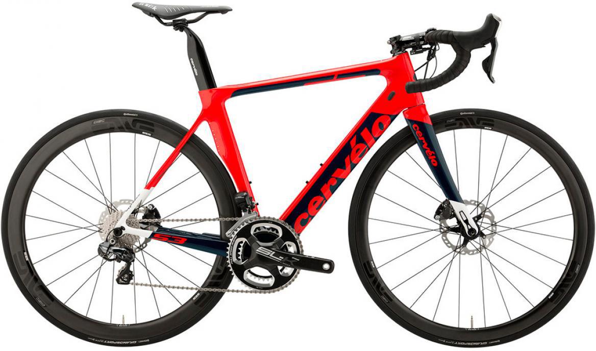 Велосипед шоссейный Cervelo S3 Disc Ultegra Di2 2017, цвет: красный, рама 23, колесо 28277479