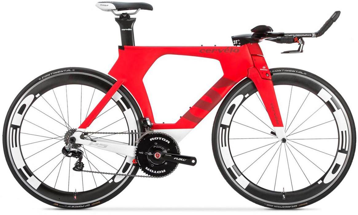 Велосипед шоссейный Cervelo P5 Six DA 2017, цвет: красный, рама 23, колесо 28277547