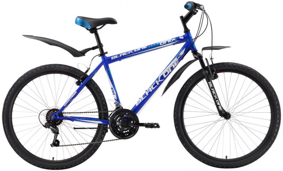 Велосипед горный Black One Onix 2016, цвет: синий, рама 18, колесо 26 велосипед black one element disc рама 18 черно зеленый