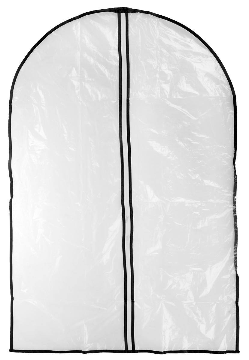 """Чехол """"Хозяюшка Мила"""", выполненный из полиэтилена - это незаменимая вещь для хранения одежды из меха, кожи, шёлка и других деликатных материалов. В чехле вещи защищены от пыли, посторонних запахов, солнечных лучей, насекомых. Микроотверстия в полиэтилене позволяют одежде дышать, проветриваться. Удобная застёжка-молния облегчает использование чехла."""