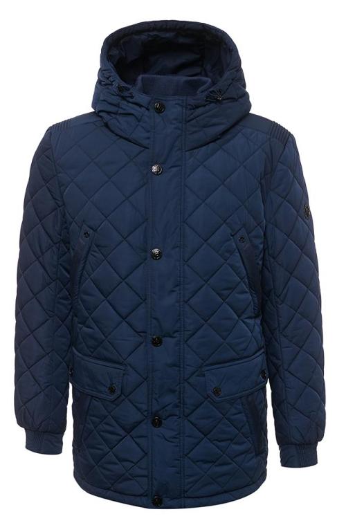 Куртка мужская Finn Flare, цвет: темно-синий. W17-21003_114. Размер 3XL (56)W17-21003_114Стильная стеганая мужская куртка Finn Flare превосходно подойдет для холодной погоды. Куртка выполнена из высококачественного материала с подкладкой и наполнителем из полиэстера. Модель прямого кроя, немного удлиненная, с длинными рукавами и несъемным капюшоном застегивается на молнию и дополнительно имеет планку на кнопках. Капюшон регулируется с помощью стопперов. Спереди изделие дополнено двумя нагрудными карманами, двумя накладными карманами с клапанами на кнопках и двумя втачными боковыми карманами. Рукава дополнены манжетами на резинке.