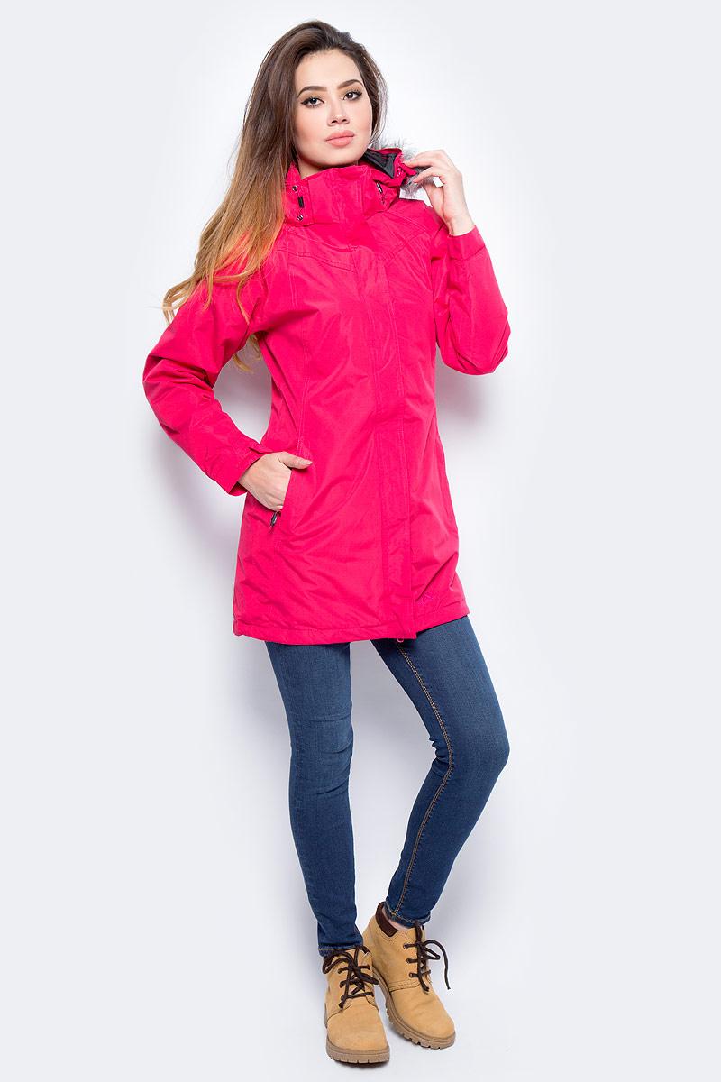 Куртка женская Trespass San Fran, цвет: розовый. FAJKRAK20012. Размер M (46)FAJKRAK20012Великолепная утепленная куртка Trespass San Fran выполнена из плотного текстиля с не продуваемой водозащитной мембраной Tres-Shield 5000/5000, синтепоновый утеплитель. Модель имеет приталенный крой, ветрозащитный клапан на липучках, боковые карманы на молнии, рукава-реглан, съемный капюшон, съемную меховую оторочку. Рукава дополнены хлястиками с липучками, которые позволяют регулировать обхват манжет. Застегивается на застежку-молнию спереди.