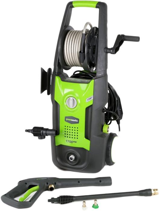 Мойка высокого давления 130bar Greenworks 51003075100307 Макс.пропускная способность 400 л/чМакс.рабочая температура 60°CКласс загрязнения IPX5-S1G4 Мойка высокого давления Мощность 1800 Ватт Макс. давление 130 барМакс.пропускная способность 420 л/ч Макс.рабочая температура 60°CМакс.давления на входе 10 бар Длина кабеля 5 метров Класс загрязнения IPX5-S1Как выбрать мойку высокого давления. Статья OZON Гид