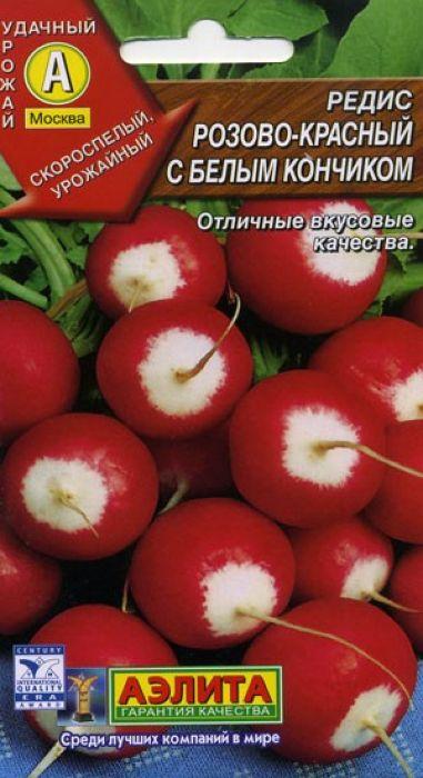 Семена Аэлита Редис. Розово-красный с белым кончиком4601729005602 Уважаемые клиенты! Обращаем ваше внимание на то, что упаковка может иметь несколько видов дизайна. Поставка осуществляется в зависимости от наличия на складе.
