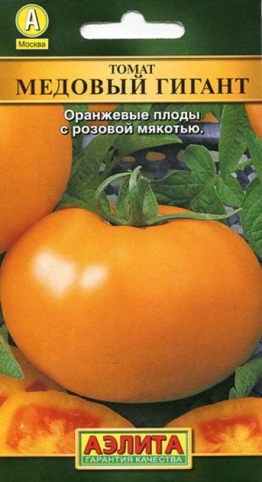 Семена Аэлита Томат. Медовый гигант4601729052385Семена Аэлита Томат. Медовый гигант - rрупноплодный (плоды 350-400 г) среднеспелый сорт (период от всходов до созревания 110-115 дней).Рекомендуется для выращивания в открытом грунте и пленочных теплицах.Растение индетерминантное. Плоды плоскоокруглые, мясистые, устойчивые к растрескиванию, хорошо переносят транспортировку и хранение. По вкусу очень сладкие, сочные, с прекрасным ароматом.Идеальный сорт для салатов, подходит для легкой кулинарной обработки.Выращивают через рассаду с обязательной пикировкой в фазе 1-2 настоящих листьев. Рассаду высаживают в возрасте 60-65 дней, размещая на 1 м2 3-4 шт. Растения подвязывают и формируют в 1-2 стебля. Обязательным является удаление боковых побегов(пасынков). Растениям необходимы регулярные поливы, прополки, рыхления и подкормки.Товар сертифицирован.Уважаемые клиенты! Обращаем ваше внимание на то, что упаковка может иметь несколько видов дизайна. Поставка осуществляется в зависимости от наличия на складе.
