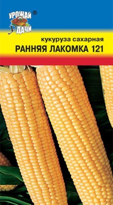 Семена Урожай удачи Кукуруза. Ранняя лакомка 121 сахарный4607127310034Раннеспелый, высокоурожайный сорт сахарной кукурузы. Растение высотой 140-170 см. Початок цилиндрический, массой – 170-230 г, длиной 18-22 см. Зерно желтого цвета, широкое, слегка удлиненное. При варке в молочной спелости – прекрасное лакомство для детей. Рекомендуется для консервирования и замораживания. Обладает повышенной устойчивостью к заболеваниям.Агротехника: Кукуруза очень требовательна к теплу. Лучше всего произрастает на легких, хорошо прогреваемых, воздухо- и водопроницаемых, достаточно плодородных почвах. Отличается повышенной отзывчивостью к поливам и подкормкам. Посев осуществляется в почву, прогретую до 10°С, не раньше середины мая. Семена высевают в бороздки глубиной 4 см (на тяжелых) или 8 см на легких почвах), укладывая по 2-3 семени через каждые 30-40 см. Ширина междурядий составляет 60-70 см. При загущенном рядовом посеве проводят прореживание, оставляя между растениями в ряду 30-40 см. Уход заключается в рыхление, прополках, поливах и подкормках.Уважаемые клиенты! Обращаем ваше внимание на то, что упаковка может иметь несколько видов дизайна. Поставка осуществляется в зависимости от наличия на складе.