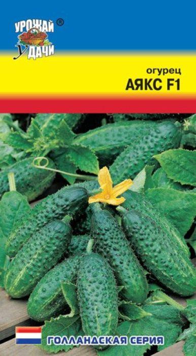 Семена Урожай уДачи Огурец. Аякс F17930041237253Очень ранний, пчелоопыляемый, женского типа цветения, с высокой стабильной урожайностью. Мощное растение формирует несколько зеленцов на одном узле. Плоды однородные, темно-зеленые белошипые, длиной 6-12 см, с отличными вкусовыми и засолочными качествами, без горечи, с нежной кожицей. Дает обильный урожай в начальный период плодоношения. Устойчив к комплексу болезней.Рекомендуется для использования в свежем виде и для засолки.Агротехника: Посев - V-VI, высадка рассады - VI, схема посадки - 40 х 60 см, уборка урожая - VII-IX.Товар сертифицирован.Уважаемые клиенты! Обращаем ваше внимание на то, что упаковка может иметь несколько видов дизайна. Поставка осуществляется в зависимости от наличия на складе.