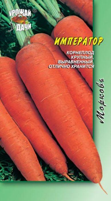 Семена Урожай удачи Морковь. Император4607127333347Отличная внутренняя и наружная окраска. Позднеспелый сорт. Период от всходов до уборки урожая 120-135 дней. Корнеплод цилиндрический со сбегом к основанию, тупоконечный, оранжево-красный. Длина 25-30 см. Мякоть плотная, сладкая, ароматная, сочная. Хорошие транспортабельность и лежкость. Агротехника: Посев - IV-V, Схема посадки - 15-18 см х 5-8см, Уборка урожая - IX.Уважаемые клиенты! Обращаем ваше внимание на то, что упаковка может иметь несколько видов дизайна. Поставка осуществляется в зависимости от наличия на складе.