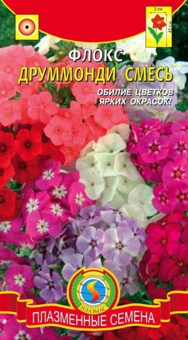 Семена Плазмас Флокс. Друммонди. Смесь4607171982614Компактное, густоветвящееся, обильно цветущее, морозостойкое растение, высотой до 45 см. Душистые цветки 2-3 см в диаметре, собраны в щитковидные соцветия, достигающие в диаметре 12-15 см. Окраска от белой до темно-красной, однотонная или пестрая. Используют для посадки в массивах, на клумбах, рабатках, в бордюрах, группах, на балконах, реже на срезку.ПОСЕВ: на рассаду в марте, или в открытый грунт в апреле-мае. После появления двух настоящих листьев сеянцы пикируют. В открытый грунт рассаду высаживают в мае, расстояние между растениями 20 см. Предпочитает солнечные места. Хорошо растет и цветет на легких питательных почвах. Нельзя размещать флокс по свежему навозному удобрению.УХОД: в сухую погоду необходим полив, в противном случае цветение ухудшается. Сырую погоду и застой почвенной воды переносит плохо. Для лучшего кущения рекомендуется проводить прищипку над четвертой-пятой парой листьев.ЦВЕТЕНИЕ: обильно с конца июня до октября. При отцветании отдельных цветков декоративность растений снижается незначительно.Уважаемые клиенты! Обращаем ваше внимание на то, что упаковка может иметь несколько видов дизайна. Поставка осуществляется в зависимости от наличия на складе.