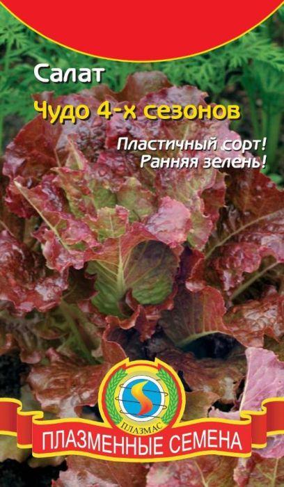 Семена Плазмас Салат кочанный. Чудо 4-х сезонов4607171987336Среднеспелый, кочанный сорт, предназначенный для выращивания в открытом грунте или под плёночными укрытиями. Пригоден для культивирования весной, летом и осенью. Период от массовых всходов до технической спелости - 70 дней, листья можно использовать в пищу уже через месяц, не дожидаясь образования кочана. Кочан компактный, округлый, плотный, среднего размера. Наружние листья бронзово-красные, внутренние - жёлто-зелёные. Консистенция листа очень нежная, маслянистая. ПОСЕВ: производят в бороздки глубиной 1-1,5 см, число семян на 1 погонный метр не более 30 шт. Расстояние между рядками 25 см. УХОД: за растениями заключается в прополке, редком поливе под корень с одновременной подкормкой азотсодержащими удобрениями. Прополку осуществляют в фазе 2-3-го листочков так, чтобы расстояние между растениями в ряду было около 25 см. Уважаемые клиенты! Обращаем ваше внимание на то, что упаковка может иметь несколько видов дизайна. Поставка осуществляется в зависимости от наличия на складе.
