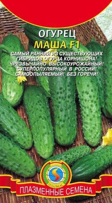 Семена Плазмас Огурец. Маша F14607171989286Маша F1 - cамый ранний из сегодня существующих в мире партенокарпическихгибридов огурца-корнишона. Предназначен для выращивания в открытом изащищенном грунте вертикальным и горизонтальным способами. Чрезвычайновысокоурожайный. Растение очень мощное, довольно открытое, что облегчаетуход и уборку. При достаточном питании формирует по 6-7 плодов на каждомузле. Плоды крупнобугорчатые, однородные, темно-зеленого цвета, с хорошейконсистенцией и плотностью, без горечи. Используется для переработки(особенно засолки) и потребления в свежем виде. Устойчив к вирусу мозаикиогурца, настоящей мучнистой росе, кладоспориозу и т.д. ПОСЕВ: в неотапливаемые теплицы и в грунт семена или 25-35 дневную рассадувысаживают в конце мая. Плотность посадки: при выращивании - 4-5 растений на1м2, вертикальное производство на кольях/шпалерах - 2-3 растения на 1м2.Глубина заделки семян 1,5-2 см. Грунт для выращивания огурца должен бытьплодородным с высокой аэрацией (добавить опилки, листья). УХОД: подкормки и поливы. Поливать надо каждые 2-3 дня теплой водой. Раз в10 дней полив совмещают с подкормкой (1 л навоза или 10 г мочевины на 10 лводы). Подкормку и полив производят вечером.Уважаемые клиенты! Обращаем ваше внимание на то, что упаковка может иметьнесколько видов дизайна. Поставка осуществляется в зависимости от наличияна складе.