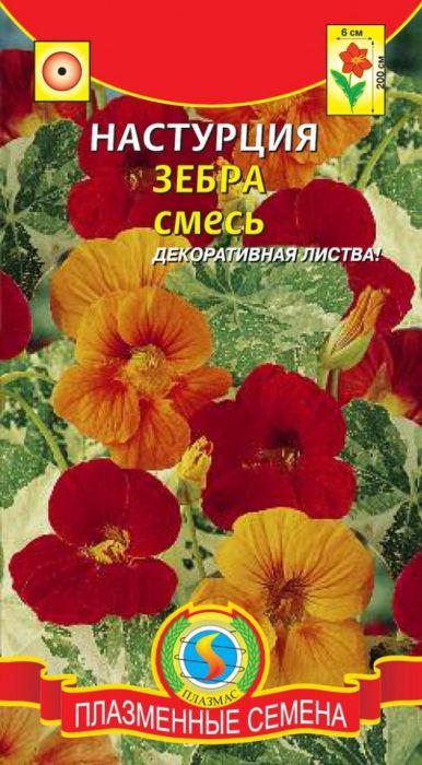 Семена Плазмас Настурция. Зебра. Смесь4650001408792