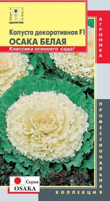 Семена Плазмас Капуста декоративная. Осака белая F1. Серия Osaka4680224000336