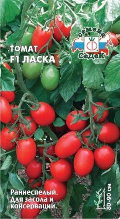 Семена Седек Томат F1. Ласка4690368014618Раннеспелый (95-105 дней) гибрид для открытого грунта и пленочных укрытий.Растение детерминантное, высотой 80-90 см, сильнооблиственное. В кистиформируется 5-6 плодов. Плоды сливовидные, ярко-красные, очень плотные,массой 60-70 г. Ценность гибрида: высокая урожайность, дружноесозревание плодов, высокая товарность и транспортабельность. Подходит длякрупнотоварного производства. Рекомендуется для употребления в свежем виде,засола и консервации. Уважаемые клиенты! Обращаем ваше внимание на то, что упаковка может иметьнесколько видов дизайна. Поставка осуществляется в зависимости от наличия наскладе.