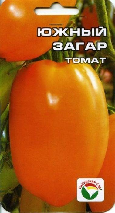 Семена Сибирский сад Томат. Южный загар7930041232258Индетерминантный, среднеспеспелый сорт для теплиц и временных укрытий. Этот красавец сорт поражает воображение высотой до 1,7 м. с кистями крупных перцевидных плодов редкого оранжевого цвета. Плоды мясистые и вкусные, массой 150-350 г, сладкие, отличаются повышенным содержанием витаминов и пониженным содержанием кислот. Плоды плотные, прекрасно подходят для засолки и консервации, в свежем виде рекомендуются для диетического питания. Урожайность сорта достигает до 8 кг с куста. При высадке в грунт на 1 кв. м размещают 3 растения. Выращивается в 1-2 стебля с подвязкой и пасынкованием.Уважаемые клиенты! Обращаем ваше внимание на то, что упаковка может иметь несколько видов дизайна. Поставка осуществляется в зависимости от наличия на складе.
