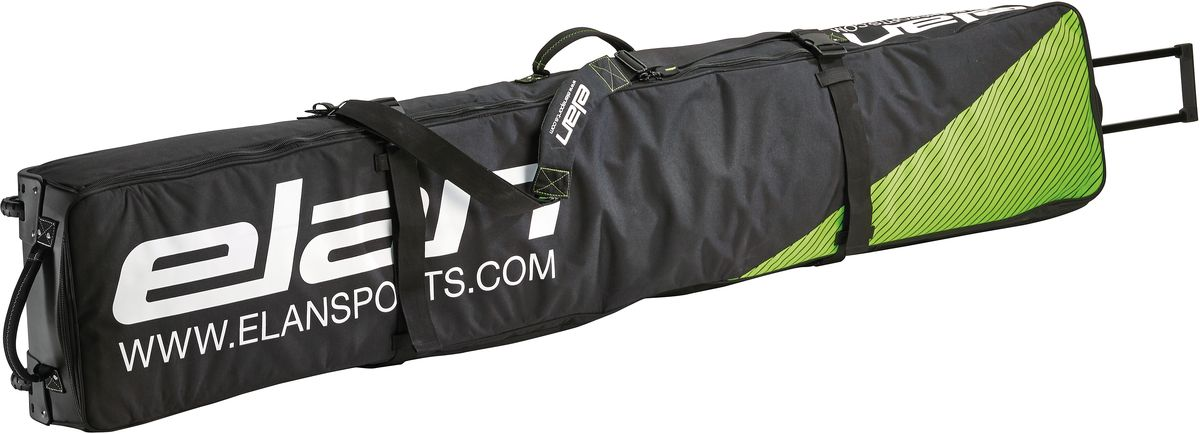 Чехол для горных лыж Elan SKI DEMO BAG, цвет: черный, длина 175 смCG160016Чехол для горных лыж-Вшитые ремни-утяжки-выдвижная ручка-большие колеса-кармашек для визитки-защищенные углы-ручки для переноски.