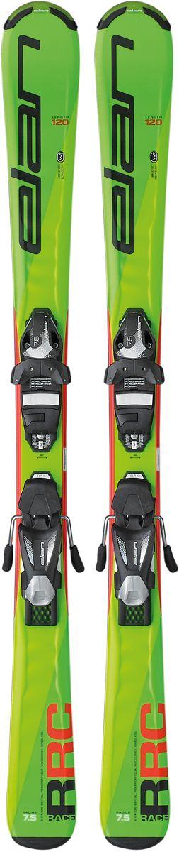 Лыжи горные детские Elan RC Race EL 7.5 QS, с креплениями, цвет: зеленый, рост 130 смXF0BPV16+DB865816Созданы для юных гонщиков, в них сочетается точно подобранная гибкость, торсионная жесткость и надежная хватка кантов.RC Race разработаны для продвинутых юных лыжников, это наши лучшие лыжи для юниоров с деревянным сердечником и инновационной технологией Elan Waveflex, обеспечивающей оптимальное сочетание комфорта, торсионной жесткости и надежной хватки кантов. RC Blue унаследовали дизайн от серии Ripstick, так что даже в этом отношении детям будет проще кататься как папа.Технические особенности:WaveflexWaveflex Waveflex - это уникальная технология Elan, представляющая собой волнообразный профиль верхней части лыжи. Это позволяет создавать очень гибкие лыжи, которыми легко управлять и с прекрасной торсионной жесткостью для уверенной хватки кантов. Раньше сложно было представить себе лыжи, в которых столь успешно сочетались бы эти характеристики.CamberCamber Максимальная контактная длина канта со склоном - некоторые называют весовой прогиб, или кэмбер традиционной конструкцией. У лыж с весовым прогибом по всей длине превосходная хватка кантов, они очень стабильны на скорости и обладают мощной отдачей в поворотах.SLR2SLR2 SLR System - это легкая платформа, благодаря которой настройка креплений - дело одной минуты. Эта платформа позволяет лыжам сохранять естественный прогиб под креплениями для послушности и отличной устойчивости, а минималистичная конструкция снижает вес до предела.Full Power CapFull Power Cap Full Power Cap - традиционная кэп-конструкция, очень легкая, маневренная и прощающая.Dual Wood CoreDual Wood Core В сердечнике Dual Wood Core применяется два симметричных деревянных стрингера, размещенных вдоль внешних кантов. Пространство между стрингерами заполнено композитным материалом. Такая конструкция улучшает передачу усилий и хватку кантов, и, при этом, лыжи очень послушны в любых условиях.FiberglassFiberglass Усиление фиберглассом оптимизирует распредел