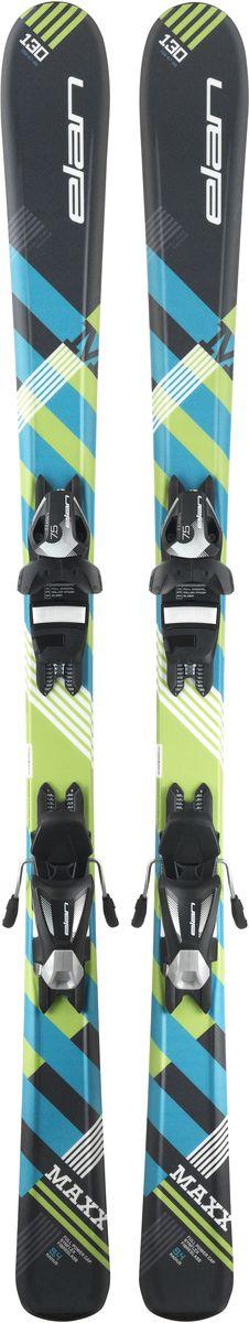Лыжи горные детские Elan Maxx QS, с креплениями, цвет: черный, рост 110 см
