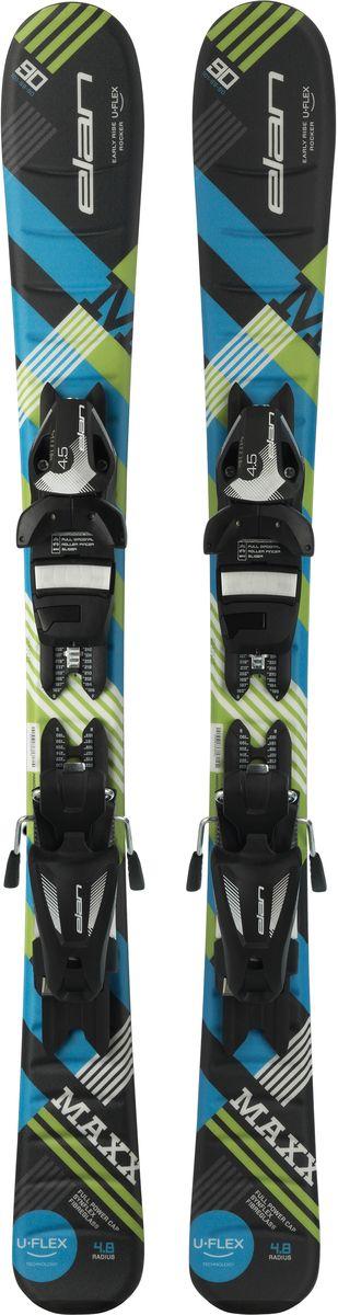 Лыжи горные детские Elan Maxx QS, с креплениями, цвет: черный, рост 80 смXFDCQZ17+DB966416Горные лыжи Elan Maxx QS - самые инновационные детские лыжи благодаря технологии U-Flex. U-Flex позволяет детям использовать гибкость лыжи на 100%, прогибая их в центральной части достаточно для того, чтобы осваивать даже карвинг с первых поворотов. В детских моделях Elan применяется технология U-Flex, благодаря которой лыжи мягче на 25% по сравнению со средним значением в своей категории. Легкий сердечник Synflex, конструкция Full Power Cap и профиль Early Rise Rocker - все это в сочетании с технологией U-Flex позволяет осваивать детям резаные повороты буквально с первого дня. Эта уникальная патентованная технология способствует быстрому прогрессу и большему удовольствию от катания.Early Rise Rocker - это то, что позволяет лыжам Elan прописывать плавные дуги без лишних усилий. Все благодаря умеренному рокеру в носке и пятке, что делает лыжи очень игривыми, послушными и универсальными.Quick Shift System - это полностью интегрированная конструкция платформа-в-платформе. В производстве этой платформы применяются легкие композитные материалы, ее невысокая жесткость идеально повторяет прогиб лыж с технологией U-Flex для максимальной послушности.Full Power Cap - традиционная кэп-конструкция, очень легкая, маневренная и прощающая.Synflex Core - это сердечник из композитных материалов с оптимальным распределением жесткости. Плотность материала сердечника изменяется по длине лыж, что позволяет создавать лыжи с выдающимися характеристиками.Fiberglass х - усиление фиберглассом оптимизирует распределение гибкости лыж и повышает их торсионную жесткость. Волокна фибергласса расположены либо на, либо под сердечником и улучшают его структурную целостность.Что взять с собой на горнолыжную прогулку: рассказывают эксперты. Статья OZON Гид