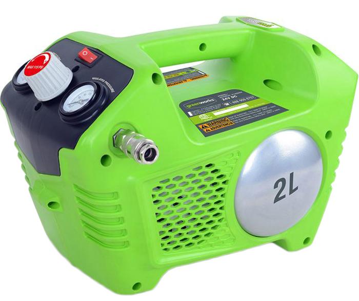 Компрессор аккумуляторный Greenwork 24В. 4100302 предохранительный клапан для воздуха челябинск