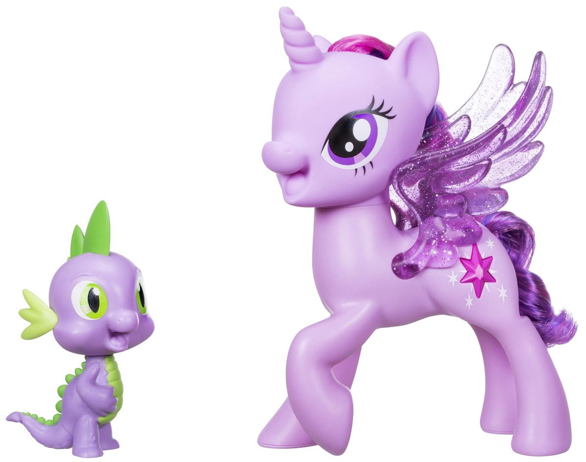 My Little Pony Набор фигурок Дружеский дуэт Принцесса Твайлайт Спаркл и дракон Спайк интерактивная игруша my little pony поющая твайлайт спаркл и спайк