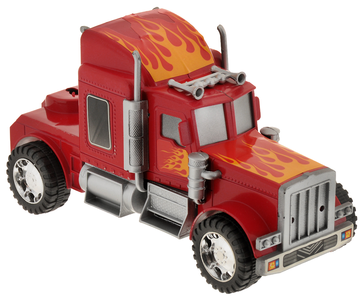 Junfa Toys Тягач инерционный цвет красный 565-3 junfa toys автовоз инерционный с погрузчиком excellent transport car